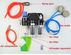 Image 5 - 2 In 1 Industrie Funktion Geliefert Air Federal Atemschutzmaske System Mit 6200 Half Face Labor Chemische Gasmaske