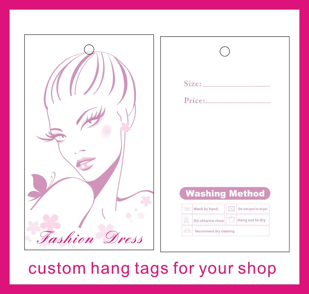 Tienda Online Garment etiquetas colgantes impresión personalizada ...