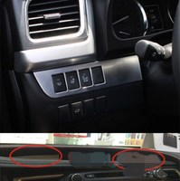 Auto Part Accessories FIT FOR TOYOTA HIGHLANDER KLUGER CHROME CONTROL SWITCH PANEL TRIM COVER