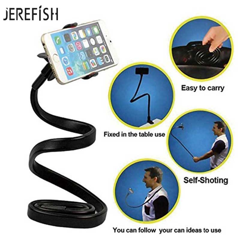 Jerefish Гибкая длинная рука ленивый рабочего кровать автомобиль Стенд Телефон держатель для сотового телефона Samsung Android iphonex 8 8 плюс 8
