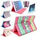 5 en 1 Multi Color PU Del Tirón Del Cuero Coloca la Cubierta Elegante para el Nuevo ipad Aire iPad 5 Protector de Pantalla Stylus Pen Envío Gratis