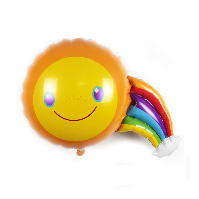 1pcs/lot 89*68cm Classic toys foil wedding sun rainbow balloons birthday balloons