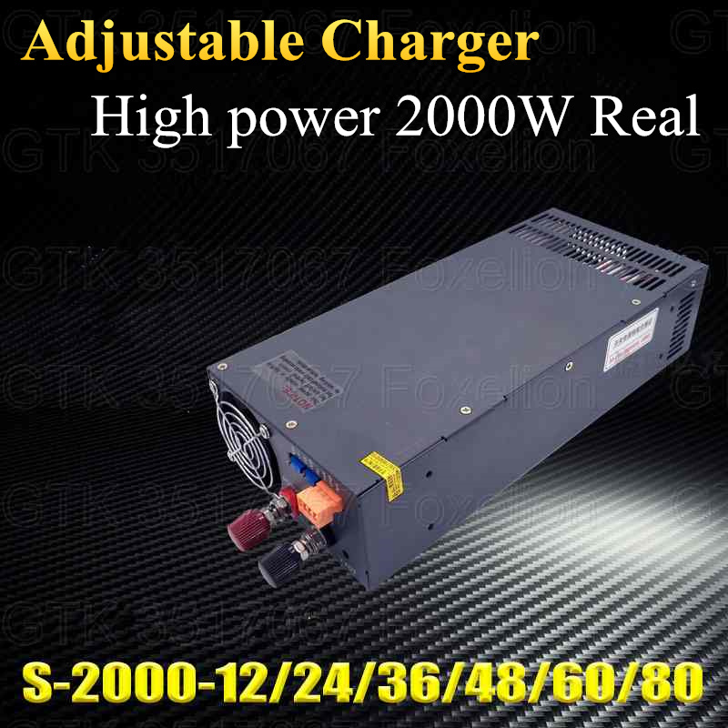 Consumer Electronics Brilliant Adjustable 2000w 100a 50a 12v 150a 24v 80a 36v 48v 40a Speed Charger Cc Cv Mode Power Supply For Lto Fast Charge Lifepo4 Lipo Accessories & Parts