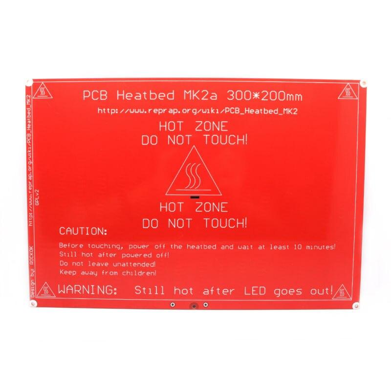 ANYCUBIC cama Calefacción 300X200X2mm Heatbed MK2A MK2B para Mendel RAMPAS 1.4 i