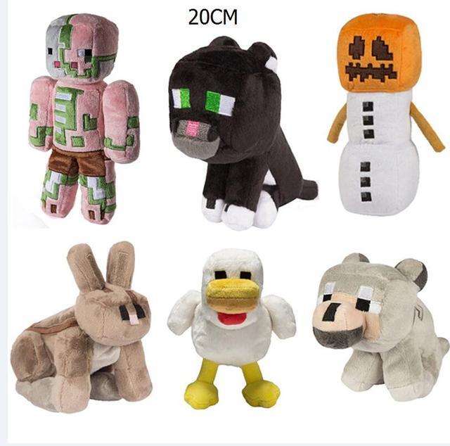 2017 nova 20 cm golem minecraft brinquedos de pelúcia animal dos