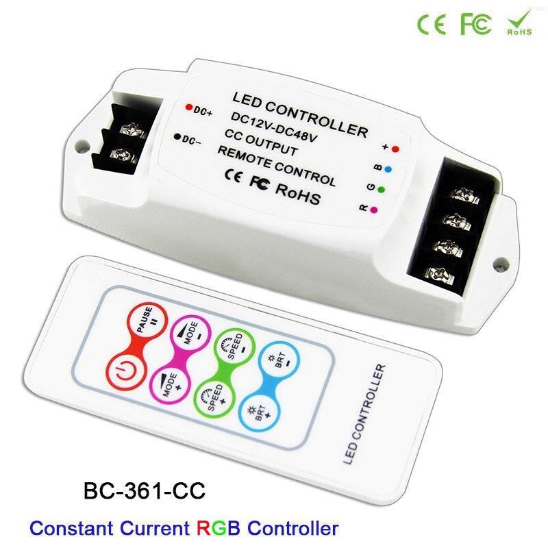 Freies Verschiffen Bc-361-cc Dc12v-48v 350ma 700ma Konstante Strom Ausgang Led Rgb Streifen Controller Licht Dimmer & Rf Remote Hohe Belastbarkeit Licht & Beleuchtung