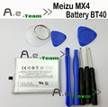 For Meizu MX4 Battery 100% New 3100mAh Battery BT40 For Meizu MX4 mobile phone MX 4 replacement backup bateria + Free Ship