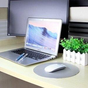 CHYI металлический тонкий круглый игровой коврик для мыши из алюминиевого сплава, компьютерный ноутбук, игровой коврик для мыши для Apple MackBook ...