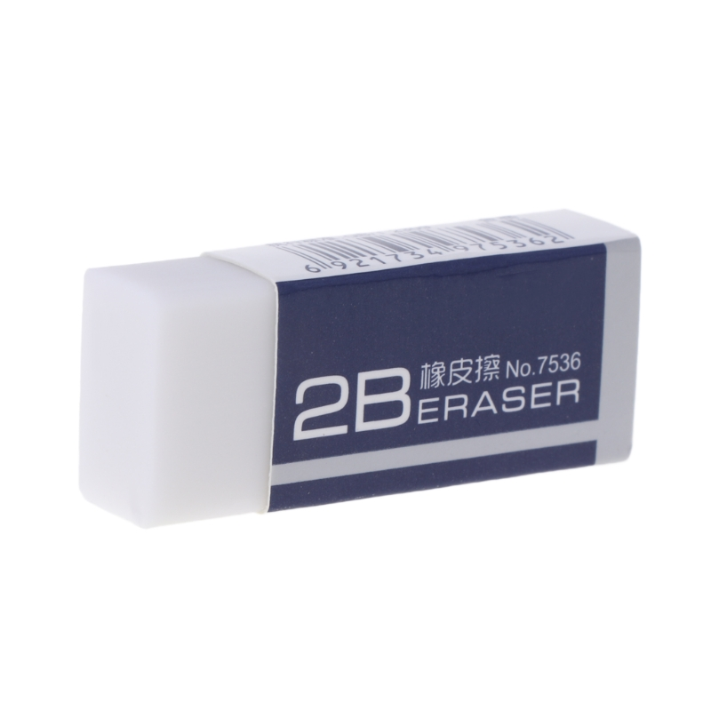 Soft Rubber 2B Pencil Eraser for Art Sketch Painting Office School Nursery Gift
