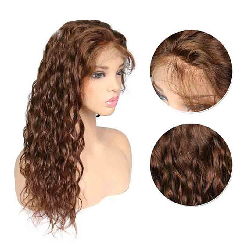 Honey Blonde Curly Human Hair Wig Deep Part 13X6 Ginger Colored Lace Front Brazilian Remy Hair