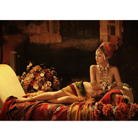3D Diy Diamond Painting Cross Stitch Crystal Sets Unfinished Diamond Embroidery Indian Women Square Full Drill