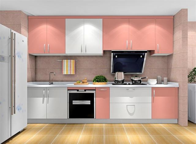 Menjual Panas Yang Modern Perabot Dapur Gloss Tinggi Sederhana Desain Lacquer Kabinet Modular