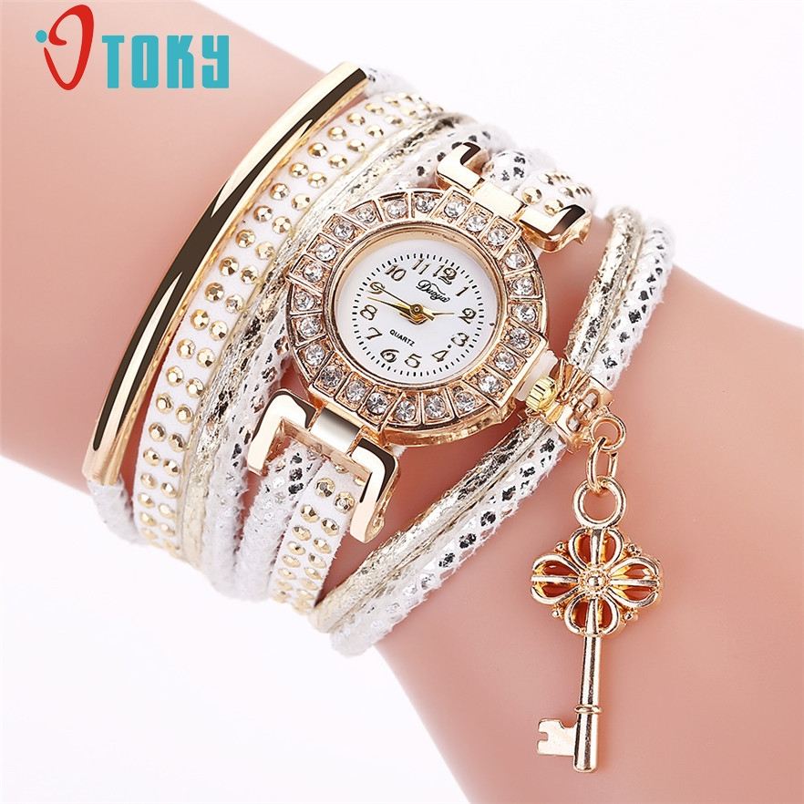 OTOKY 2017 Fashion Ladies Watches Women Dress Luxury Key Wrist Watch For Women Bracelet Vintage Sport Clock Watch #20 Gift 1pc 6 colors fashion rhinestone women jewelry watch vintage square mini dial bracelet fancy wrist watch for ladies gifts ll