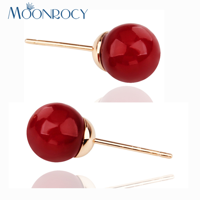 MOONROCY Free Shipping Crystal Earrings Fashion Wholesale Rose Gold