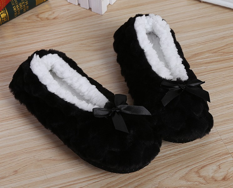 Mntrerm New Cute 2018 Indoor Home Slippers Warm Soft Plush Slippers Non-slip Indoor Fur Slippers Solid Color Cute Women Shoes