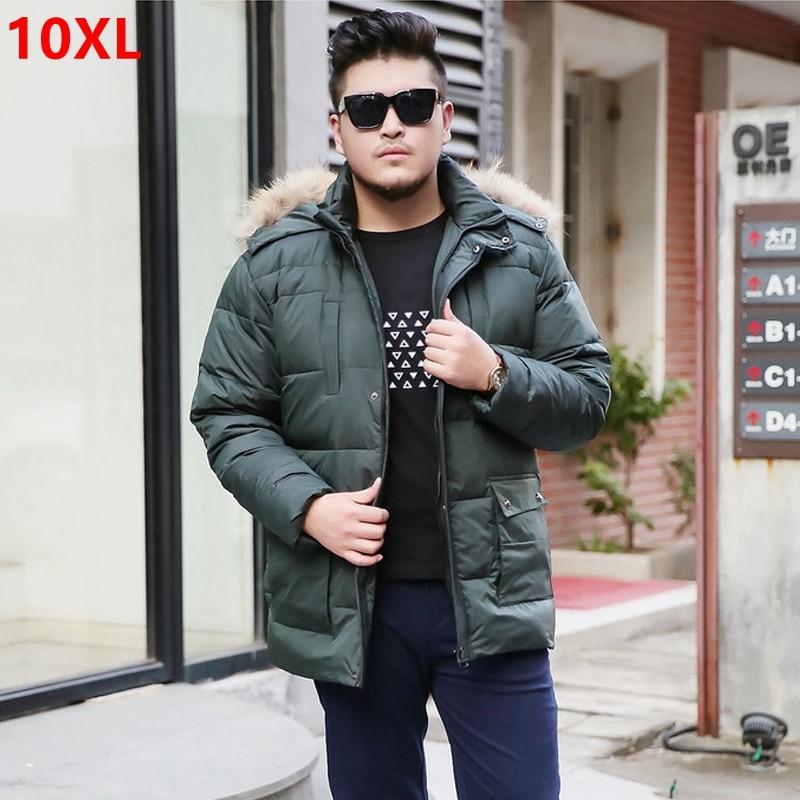 8f9e8e3881935 Winter new young down jacket large size down jacket Hat Detachable long men  plus size fat to increase the large 10XL 9XL 8XL 7XL-in Down Jackets from  Men s ...