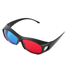 Universal Type 3D Glasses TV Movie Dimensional Anaglyph Video Frame Glasses DVD Game Anaglyph 3D Plastic Glasses Cheap And Hot