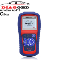 Autel AutoLink AL419 One Click I/M Retrieves Generic MIL Clears Codes and Resets Monitors, OBDII CAN Code Reader Scanner
