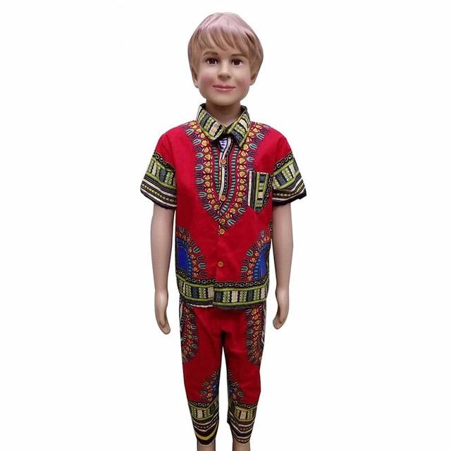 Free Shipping2016 Summer Fashion Dashiki African Boy Clothing