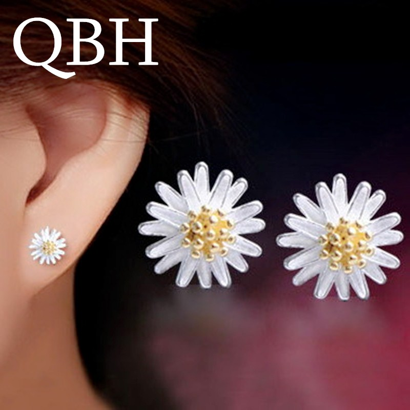 EK469 New Fashion Tiny Sun Flower Stud Earrings for Women Wedding Jewelry Minimalist Boucle Dainty Brincos Temperament bijoux