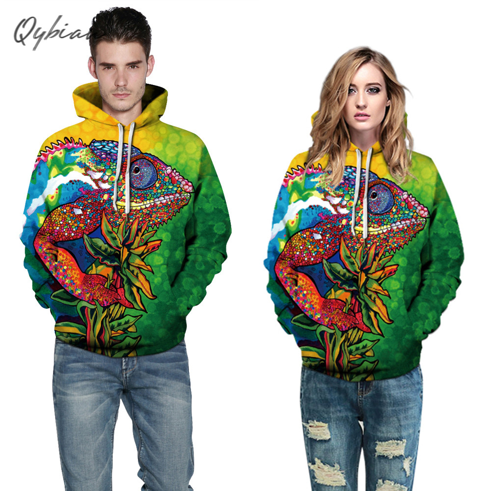 Chameleon Style High Quality Hoodies Men Women Hot Color Chameleon Fashion