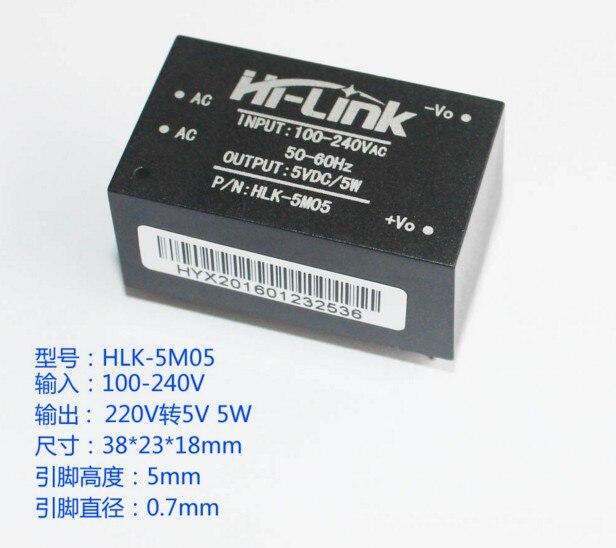 Image 3 - 10 قطعة HLK 5M03 HLK 5M05 HLK 5M12 5 واط AC DC 220 فولت إلى 12 فولت/5 فولت/3.3 فولت باك تنحى وحدة امدادات الطاقة محول ذكي-في الدوائر المتكاملة من المكونات واللوازم الإلكترونية على AliExpress