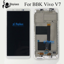 100% probado Blanco/Negro 5,7 pulgadas alta calidad para BBK Vivo V7 pantalla LCD + MONTAJE DE digitalizador con pantalla táctil con marco