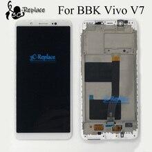 % 100% test edilmiş beyaz/siyah 5.7 inç yüksek kalite BBK Vivo V7 lcd ekran + dokunmatik ekranlı sayısallaştırıcı grup çerçeve ile