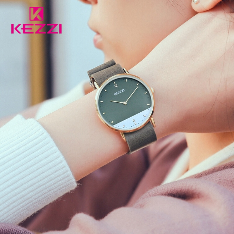 все цены на KEZZI bayan kol saati 2018 Clock Women Watches Fashion Big Dial Waterproof Casual reloj mujer Lady Wrist Watch Relogio Feminino онлайн