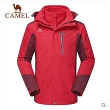 Camel 2015 Sport Winter Jacket Men's Outdoor Windbreaker Hooded 3-in-1 Fleece Liner Warm Outerwear A4W214040