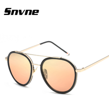Snvne gafas de Sol Moda marco redondo gafas de sol de película de color para hombres mujeres Marca de diseño gafas de sol oculos feminino mujer KK555