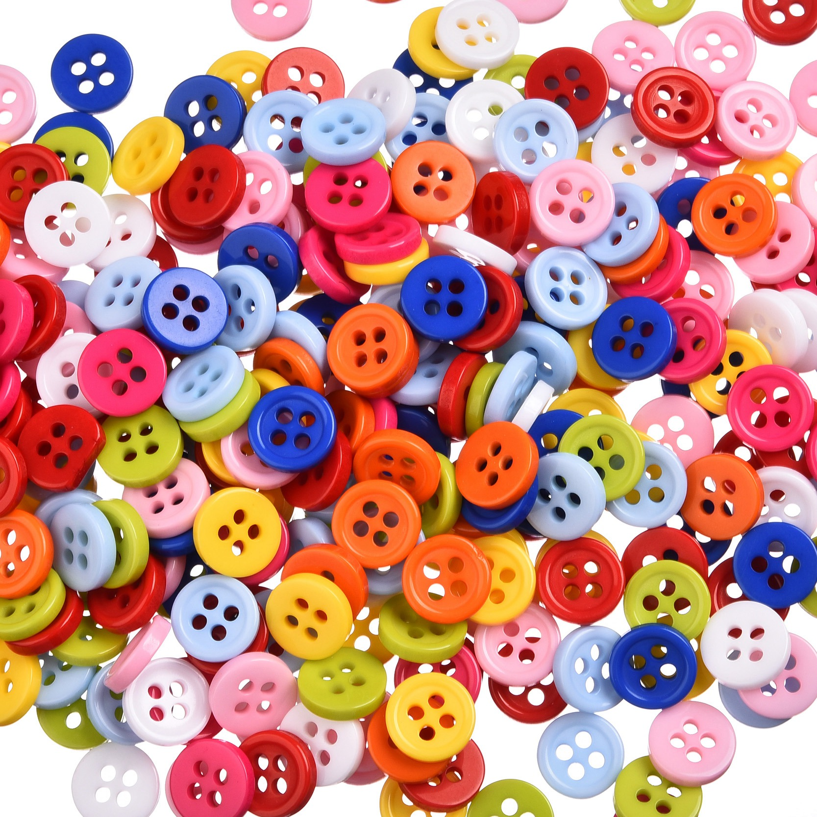 500Pcs/lot 4 Holes 9mm Mixed...