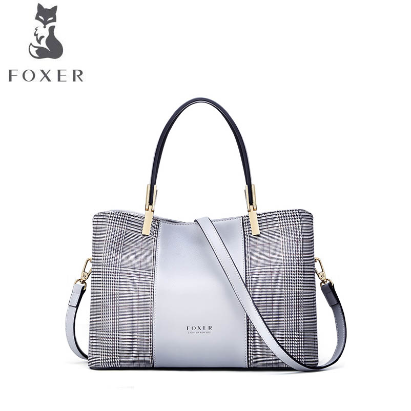 FOXER brand handbag Large-capacity bag female shoulder bag 2018 new leather bag handbag Crossbody bag runningtiger luxury brand designer bucket bag women leather yellow shoulder bag handbag large capacity crossbody bag