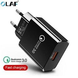 Олаф Quick Charge 3,0 USB зарядное устройство EU US Plug QC 3,0 дорожное настенное зарядное устройство для мобильного телефона для iphone 7 8 X samsung S10 S9 Xiaomi