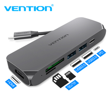 Vention estación de acoplamiento con ranura TF/SD para MacBook, Samsung, Galaxy S9/Note 9, Huawei P20, USB C