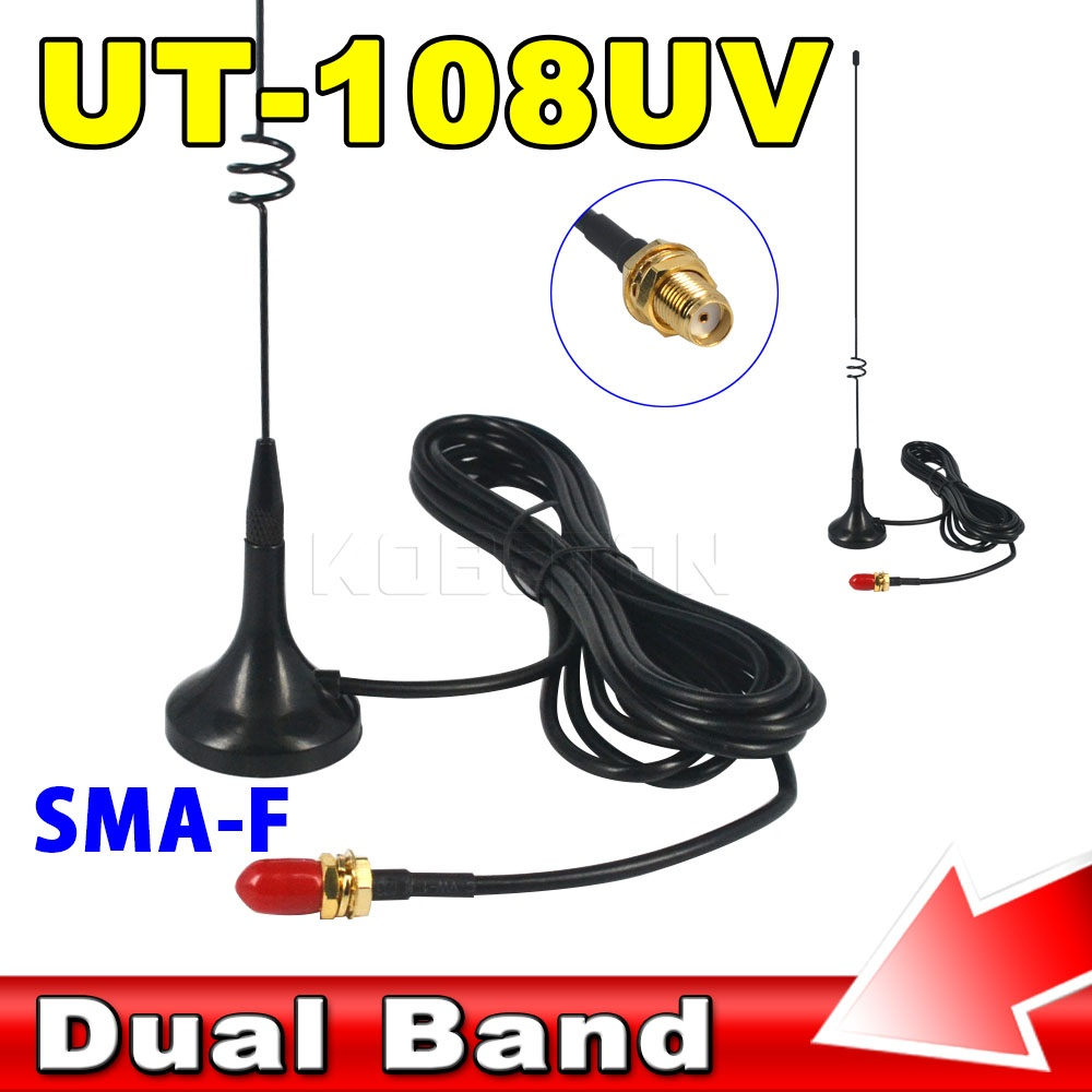 imágenes para Magnética caliente UT-108UV SMA Antena de Radio de Dos Vías VHF UHF Móvil para BAOFENG UV-5R UV-B5-B6 uv Radio CB Nagoya GT-3