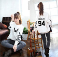 Spring / Fall /2017 Women    B.A.P   clothes loose White sweatshirt