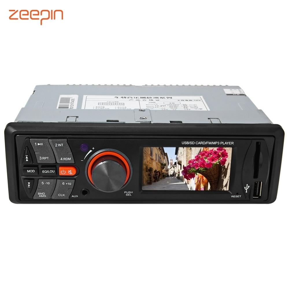 цена на 12V Car Radio Vehicle Electronics In-dash MP3 Audio Player HiFi Car Stereo with 4 loudspeakers FM Stations MP3 WMA USB SD Port
