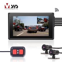 SYS M2F WiFi Dual FHD 1080P Motorcycle Dash Cam DVR with 170 Degree Wide Angle Lens Front & Rear View Motorcycle Camera Recorder