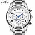 Mens Watches Top Brand Luxury GUANQIN Automatic Week Month Date Fashion Mechanical Watch Men Clock Wristwatch Relogio Masculino