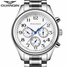 Mens Relojes de Primeras Marcas de Lujo GUANQIN Automático Semana Mes Fecha Moda Reloj Mecánico de Los Hombres Reloj de Pulsera Relogio masculino