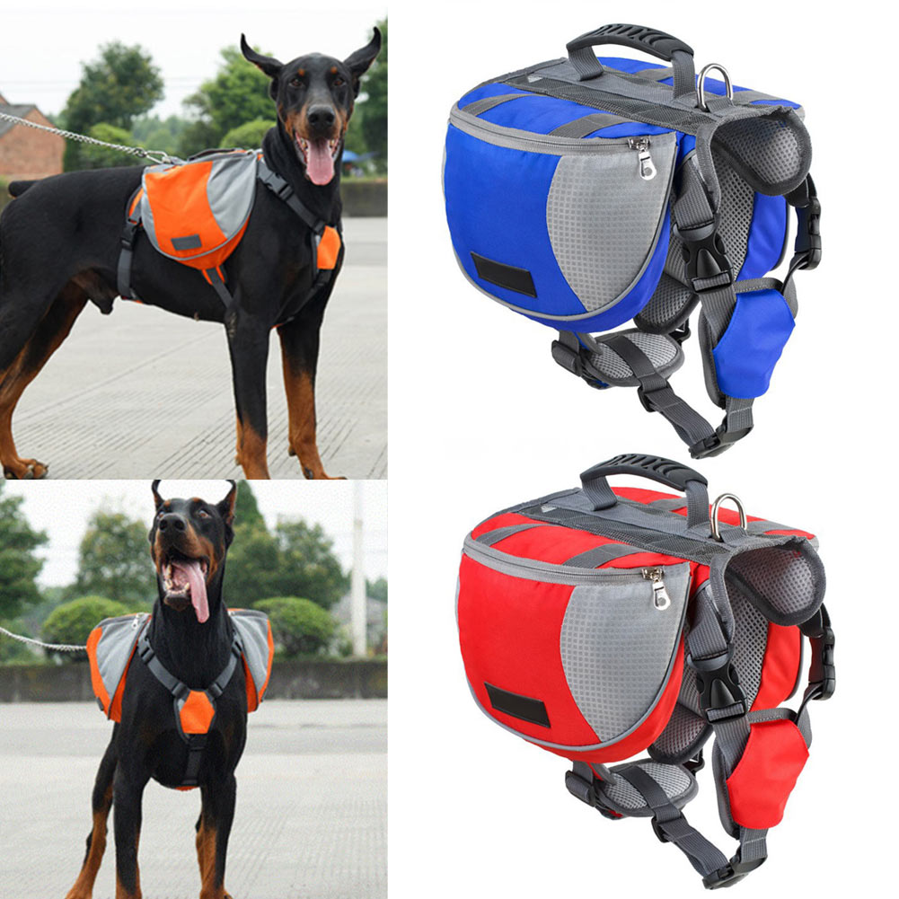 S/M/L Professional Outdoor Travel Dogs Backpack Training Harness Quick Release Carriers Saddle Bag New