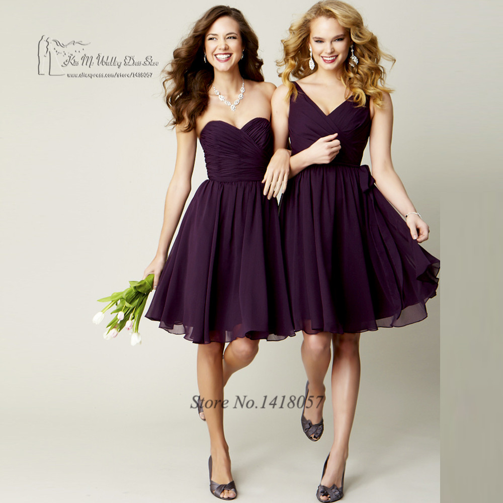 Beach purple navy blue bridesmaid dresses short knee length cheap beach purple navy blue bridesmaid dresses short knee length cheap wedding guest dress 2017 vestido madrinha china party gowns in bridesmaid dresses from ombrellifo Images
