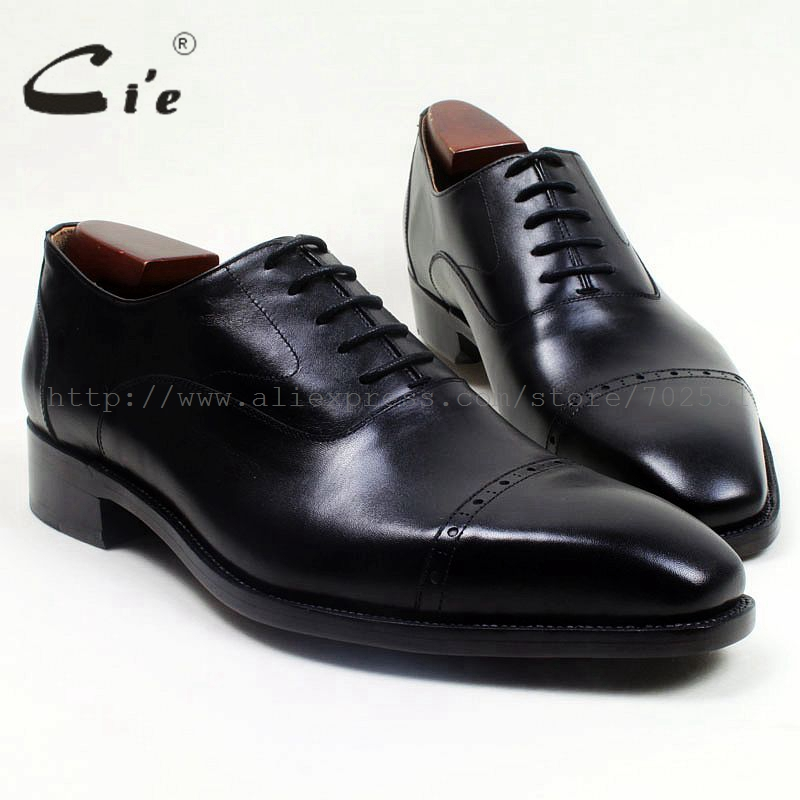 cie Square Cap Toe Handmade 100% Genuine Calf Leather Outsole Breathable Men's Shoe Flats Work Dress Oxford Black Goodyear OX515 купить часы haas lt cie mfh211 zsa