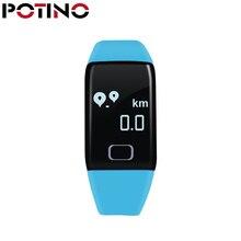 Potino T1 Умные браслеты сердечного ритма touch браслет мониторинга здоровья шагомер Водонепроницаемый для смарт-браслет Новинка 2017 года