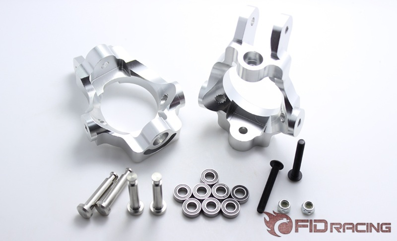 FIDRACING CNC machined alloy Castor Blocks Front Hub for 1 5 rc car losi 5ive t