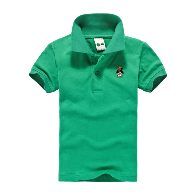 2017 весной и летом ребенок детская одежда мужской женский ребенок короткий рукав Футболки 100% хлопок stripe polo shirt твердые