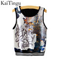 KaiTingu 2016 Brand New Fashion Women Sleeveless Letter Print Crop Top Casual Women Cropped Tops Vest Tank Tops