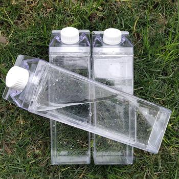 Kuchnia szczelna kreatywna przezroczysta butelka na wodę i mleko Drinkware Outdoor wspinaczka Tour Camping dzieci mężczyźni butelka na wodę i mleko butelki na wodę tanie i dobre opinie WTCABROE CN (pochodzenie) Z tworzywa sztucznego Dorosłych Butelki wody Zaopatrzony Ekologiczne Fresh Milk Water Bottles
