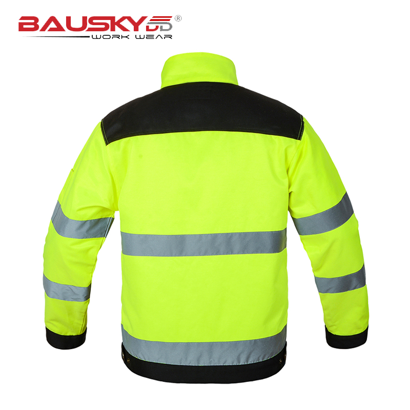 Image 4 - Bauskydd High visibility Men outdoor Tops workwear multi pockets  safety reflective work jacket  free shipping-in Safety Clothing from Security & Protection